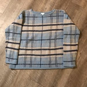 J Jill Plaid boxy sweater size Large